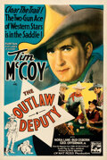 """Movie Posters:Western, The Outlaw Deputy (Puritan, 1935). Very Fine- on Linen. One Sheet (27"""" X 41"""").. ..."""