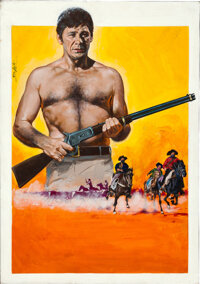The Bull of the West by Enzo Nistri (Universal, 1972). Very Fine+. Signed Original Italian Gouache Poster Artwork on Ill...