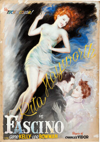 Cover Girl by Anselmo Ballester (Columbia, 1951). Fine/Very Fine. Signed Original Mixed Media Poster Artwork on Illus