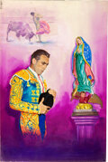 Movie Posters:Romance, The Magnificent Matador by Enzo Nistri (20th Century Fox, 1955). Very Fine- Signed Original Italian Mixed Media Poster Artwo...