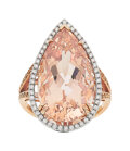Estate Jewelry:Rings, Morganite, Diamond, Rose Gold Ring . ...