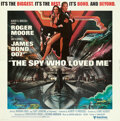 "Movie Posters:James Bond, The Spy Who Loved Me (United Artists, 1977). Folded, Very Fine+. International Six Sheet (76.75"" X 78.5"") Bob Peak Artwork...."