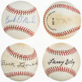 Autographs:Baseballs, Negro Leagues Legends Single Signed Baseballs, Lot of 4.