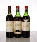 Red Bordeaux, Chateau Margaux . Margaux. 1966 1htms, 1ltms, 2hbsl, 1nc, 1ssos Bottle (2). 1975 ts, hbsl Bottle (1). ... (Total: 3 Btls. )