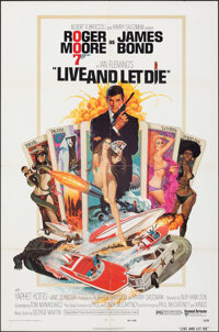 "Live and Let Die (United Artists, 1973). Folded, Very Fine. One Sheet (27"" X 41"") Robert McGinnis Artwork. Jam..."