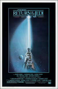 "Return of the Jedi (20th Century Fox, 1983). Rolled, Very Fine+. One Sheet (27"" X 41"") Style A, Tim Reaper Art..."
