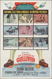 "The 3 Worlds of Gulliver (Columbia, 1960). Folded, Fine/Very Fine. One Sheet (27"" X 41""). Fantasy"