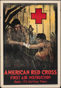 """Movie Posters:Miscellaneous, American Red Cross (Ohio Mechanics Institute, 1920). Rolled, Very Fine-. Poster (22.5"""" X 32.5"""") """"First Aid Instruction,"""" C.R..."""