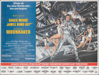 "Moonraker (United Artists, 1979). Folded, Very Fine/Near Mint. New York Subway (45"" X 59.5"") Dan Goozee Artwor..."
