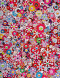 Prints & Multiples, Takashi Murakami (b. 1962). Dazzling Circus: Embrace Peace and Darkness Within Thy Heart, 2016. Offset lithograph in col...