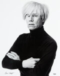 Photographs, Andrew Unangst (b. 1950). Portrait of Andy Warhol, 1985. Digital pigment, printed 2017. 24-1/2 x 19-1/2 inches (62.2 x 4...