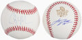 Autographs:Baseballs, Clayton Kershaw & Justin Verlander Single Signed Baseballs, Lot of 2.... (Total: 2 items)