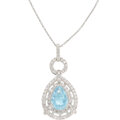 Estate Jewelry:Necklaces, Tourmaline, Diamond, White Gold Pendant-Necklace. ...