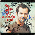 Movie/TV Memorabilia:Autographs and Signed Items, One Flew Over the Cuckoo's Nest Cast/Crew Signed Laserdisc Jacket. ...