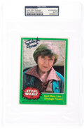 Movie/TV Memorabilia:Autographs and Signed Items, Shelagh Fraser Signed Star Wars Topps Card....