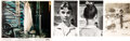 Movie/TV Memorabilia:Photos, Audrey Hepburn Personally Owned Photos Circa War and Peace (3) With Lobby Card. ...