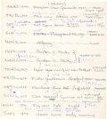 Music Memorabilia:Autographs and Signed Items, John Entwistle Handwritten Page (1969)....