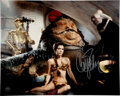 Movie/TV Memorabilia:Autographs and Signed Items, Star Wars/Carrie Fisher Signed Return of the Jedi Promo Photo. ...