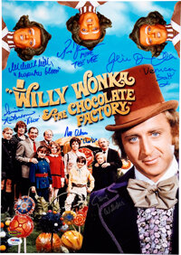 Willy Wonka and the Chocolate Factory Cast Signed Promo Photo Print