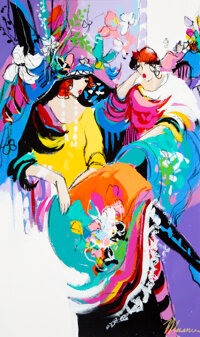 Isaac Maimon (Israeli, b. 1951) Contemplation Oil on canvas 38-1/2 x 23-1/4 inches (97.8 x 59.1 c