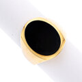 Estate Jewelry:Rings, Gentleman's Onyx, Gold Ring. ...
