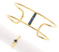 Estate Jewelry:Suites, Sapphire, Gold Jewelry Suite, Reign. ... (Total: 2 Items)