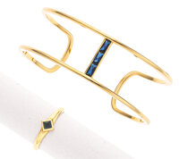 Sapphire, Gold Jewelry Suite, Reign