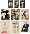 Music Memorabilia:Autographs and Signed Items, Tex Ritter Signed Photos (5)....