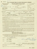 Movie/TV Memorabilia:Autographs and Signed Items, Moe Howard/Larry Fine Signed AGVA Contract (1958)....