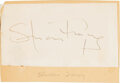 Movie/TV Memorabilia:Autographs and Signed Items, Spencer Tracy Signed Slip of Paper....