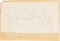Spencer Tracy Signed Slip of Paper