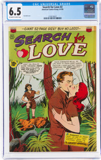 Search For Love #2 (ACG, 1950) CGC FN+ 6.5 Off-white to white pages