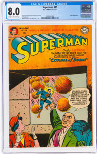 Superman #79 (DC, 1952) CGC VF 8.0 Cream to off-white pages