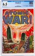 Golden Age (1938-1955):Science Fiction, Atomic War! #1 (Ace, 1952) CGC FN+ 6.5 Off-white to white pages....