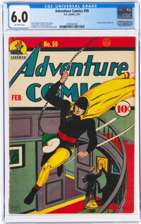 Adventure Comics #59 (DC, 1941) CGC FN 6.0 Off-white pages
