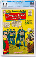 Golden Age (1938-1955):Superhero, Detective Comics #225 (DC, 1955) CGC NM 9.4 Off-white to white pages....