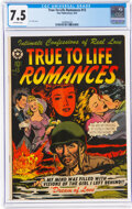 Golden Age (1938-1955):Romance, True-To-Life Romances #13 (Star Publications, 1952) CGC VF- 7.5 Off-white pages....