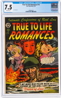 True-To-Life Romances #13 (Star Publications, 1952) CGC VF- 7.5 Off-white pages