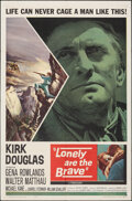 """Movie Posters:Western, Lonely Are the Brave (Universal International, 1962). Folded, Very Fine-. One Sheet (27"""" X 41""""). Western.. ..."""