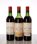 Red Bordeaux, Chateau Lynch Bages. 1961 Pauillac 2vhs, 1ltms, 3bsl, 1cc, excellent color Bottle (3). Chateau Leoville Las Cases... (Total: 4 Btls. )