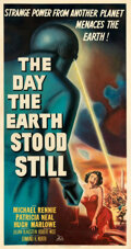 "Movie Posters:Science Fiction, The Day the Earth Stood Still (20th Century Fox, 1951). Very Good on Linen. Three Sheet (41"" X 79"").. ..."