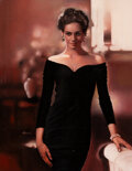 Pin-Up and Glamour Art, Ron Lesser (American, 20th Century). Beauty in a Black Dress, 1994. Oil on Masonite. 17-1/2 x 13-1/2 inches (44.5 x 34.3...