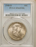 1948-D 50C MS65 Full Bell Lines PCGS. PCGS Population: (2415/273). NGC Census: (874/59). CDN: $95 Whsle. Bid for NGC/PCG...