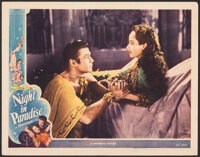"A Night in Paradise (Universal, 1946). Very Fine-. Lobby Card (11"" X 14""). Comedy"