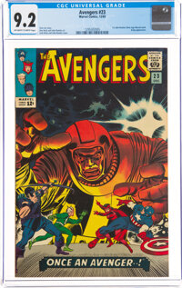 The Avengers #23 (Marvel, 1965) CGC NM- 9.2 Off-white to white pages