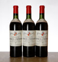Red Bordeaux, Chateau Latour a Pomerol 1961 . Pomerol . 2bn, 1ts, 3lwasl, 1nl. Bottle (3). ... (Total: 3 Btls. )