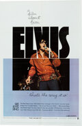 Music Memorabilia:Posters, Elvis Presley That's The Way It Is Theatrical One Sheet Poster (MGM, 1970)....