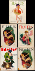 """Movie Posters:Miscellaneous, Film Fun (1920s). Fine/Very Fine. Magazines (5) (Multiple Pages, 8"""" X 11.25""""). Miscellaneous.. ..."""