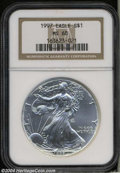 Modern Bullion Coins: , 1997 Silver Eagle MS68 NGC. ...