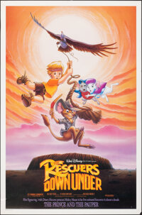 """The Rescuers Down Under (Buena Vista, 1990). Rolled, Fine/Very Fine. One Sheet (27"""" X 41"""") DS. Animation"""